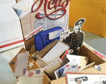Happy Mail, Postal-theme Pop up Box card