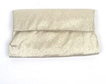 Vintage 1950s Lady Buxton Metallic Gold Folderover Clutch Wallet
