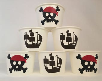 Pirate Party Snack Cups, Pirate Birthday Party Snack Cups, Pirate Baby Shower