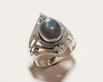 Labradorite ring, handmade silver ring, 925 Solid Sterling silver ring, gemstone ring
