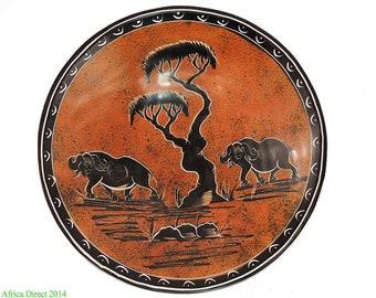 Stone Bowl Buffalo Kisii Kenya Africa 10 Inch 89666