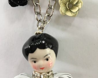Faux Vintage French Doll Necklace