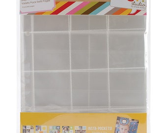 Simple Stories - Sn@p! Insta Pocket Pages For 6inX8in Binders 10 Pack Variety Pack