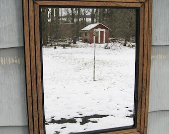 Medium Rustic Primitive Barn Wood Mirror no.1701