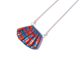 Necklace THE KILT -- Miniature kilt necklace, polymer clay by The Sausage