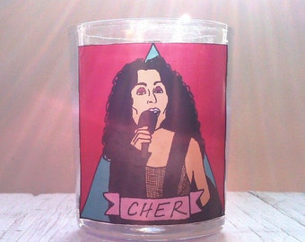 Cher Glass Votive Candle // LGBTQ Altar Candle