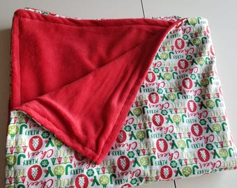 Cheer Joy Meery Christmas blanket