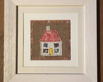 Textile art 'home' picture