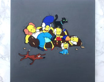 Simpsons x Kaws style painting