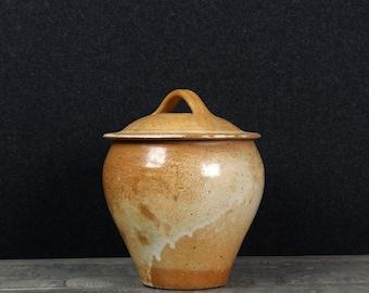 French Vintage Confit Pot, Salting Pot, French Stoneware Confit, Terracotta Jar, Glazed pot