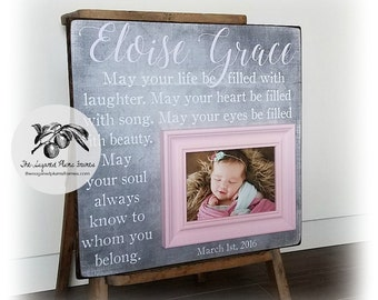 Baptism Gift for Goddaughter, Christening Gift, May Your Life Be Filled, 16x16 The Sugared Plums Frames