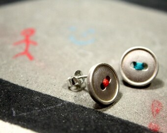 Buttons, sterling silver posts