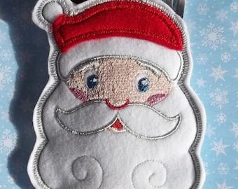 Santa Silverware Holder Cutlery Holder One embroidered on Felt