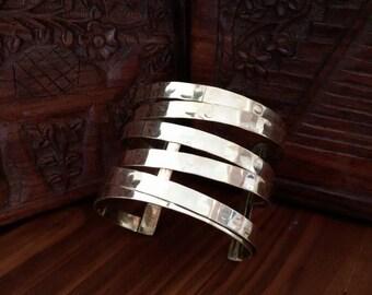 Hammered metal cuff