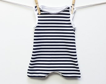 Retro Black and White Striped Baby Swimsuit, Baby Boy Swimwear, Baby Swimming Suit, Boys Swimwear, Baby Swim, Baby Boy Swim, Baby Swimwear