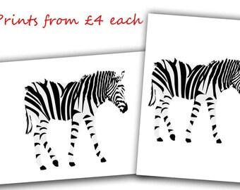 zebra Print, zebra art, watercolor zebra gifts, zebra painting, zebra decor, zebra wall art, zebra lover gift