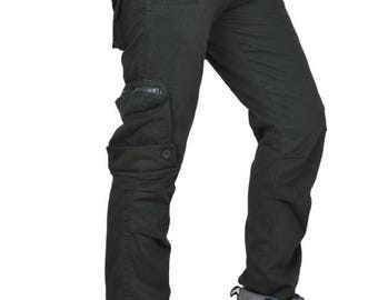 Cargo Pants Men's Cotton Organic Khaki-Green - Life Style