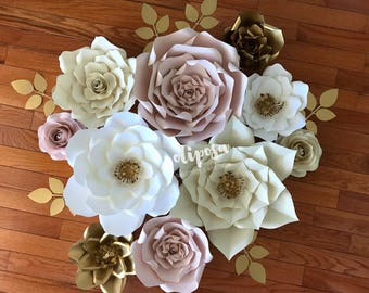 10 pc Paper Flowers, nursery, toddler room, home decor, Customize your colors