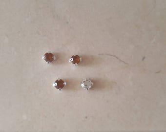 set of 50 rhinestone appliques Red 5 mm