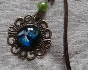"Bookmark ""cabochon Blue Angel"""