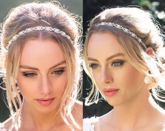 Bridal Headband Pearl Bridal Headband Silver Bridal Headband Gold Bridal Headpiece Bridal Hair Accessories Wedding Hair Accessories H025
