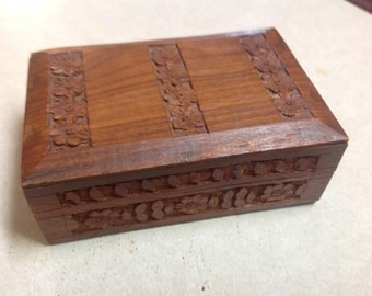 Carved jewelry box Etsy