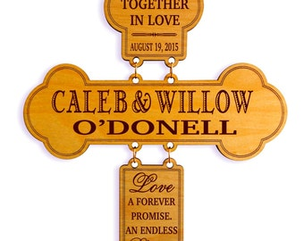 Personalized Wedding Gift for Couple - Gifts for Anniversary - Newlyweds Gift - Gift for New Couple - Mr and Mrs Wedding Gift - Cross