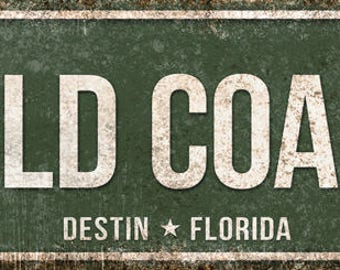 "Emerald Coast Pkwy // Destin, Florida  // Metal Sign // 5.5"" x 22"""