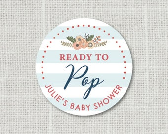 Baby Shower Stickers Ready To Pop Baby Party Stickers Baby Shower Favor Stickers Baby Party Labels Stickers for Favors Ready To Pop Stickers