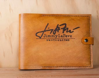 Guest Book with Logo - Custom Leather Wedding Guest Book with Your Logo and Personalized Inscription - Business Guest Book