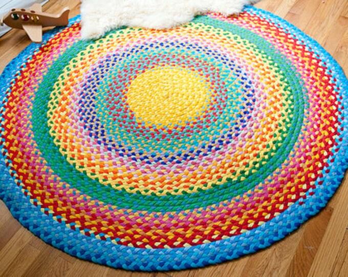 megs rainbow braided cotton rug