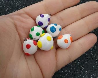 Mini Yoshi Eggs - Mario charms