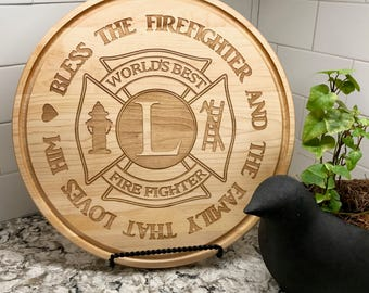 Firefighter, EMS, Personalized Gift, Cutting Board, Engraved, Wedding, Anniversary, Retirement Gift, Appreciation, Award