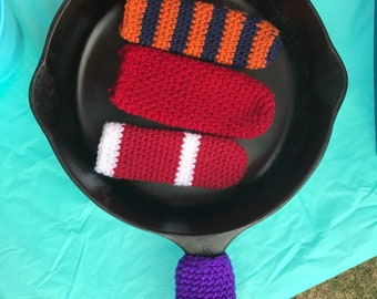 Crochet pan holder- custom colors available