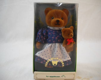 """1986 Vintage Applause Teddy Bear Story Momma 4"""" Bears Free Shipping"""