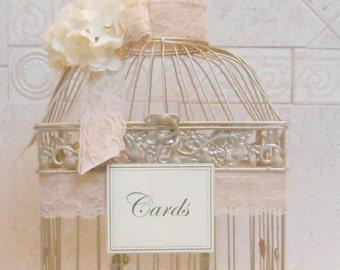 Birdcage Wedding Card Holder | Champagne Gold Birdcage  | Elegant Wedding | Gold Birdcage | Wedding Cardholder