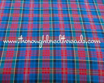 Mad About Plaid - Vintage Fabric Multi-Colored Checked 36 in wide 60s