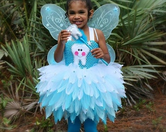 Tooth fairy costume, fairy costume, Tooth fairy tutu, tinker bell tutu, tinker bell costume, tooth fairy dress, fairy party, blue fairy