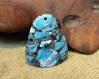 Sale #EarthDay ~ Blue Turquoise  Pyrite Matrix Campanulate Bell 47x40x7mm