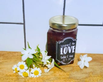 20 x Spread the love - personalised preserve or jam labels