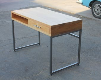 Modern Wood Desk with Drawer