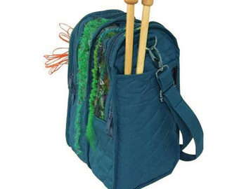 Yazzii Knitting Carry Tote - Aqua