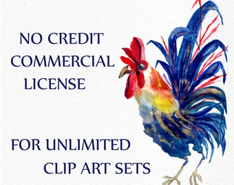 Limited Commercial License NO Credit required - Unlimited clip art sets