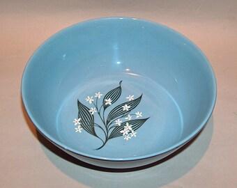 8577: Homer Laughlin Stardust Blue Vegetable Serving Bowl  Farmhouse Mid Century Modern Vintage China at Vintageway Furniture