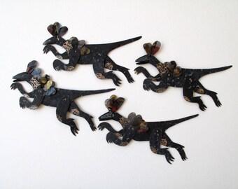 Running Herbivore Dinosaur / Paper Doll Articulated / Hinged Beasts Series