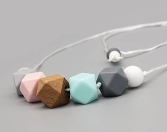 "Necklace/Still Chain ""stella"" Silicone Wood Jewelry"