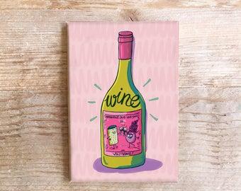 Wein Küche Magnet Spaß Kühlschrank Vino Essen Kühlschrank lustige Lebensmittel
