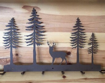 Rustic Forest Deer Hat Rack