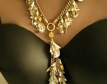 Very unique vintage, deco, tribal, Boho necklace and earring set