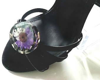 Real Flower Shoe Clips- Wedding Shoe Clips, Pin Up Shoes, Jewelry Gifts For Sister, Unique Gifts